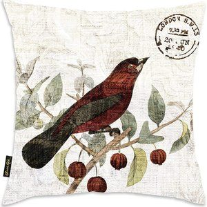 OLIVER GAL New BIRD IN THE TREE 18 x  18 PILLOW